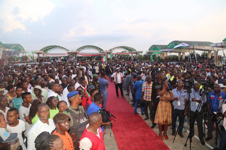 Dickson celebrate in Yenagoa