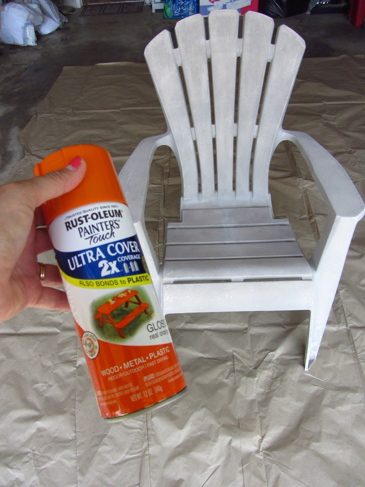 How To Paint Plastic Chairs Beach Umbrella For Chair So Wonderfully Complex Painting Outdoor