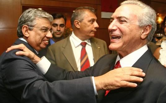 Resultado de imagem para Garibaldi Alves e Temer