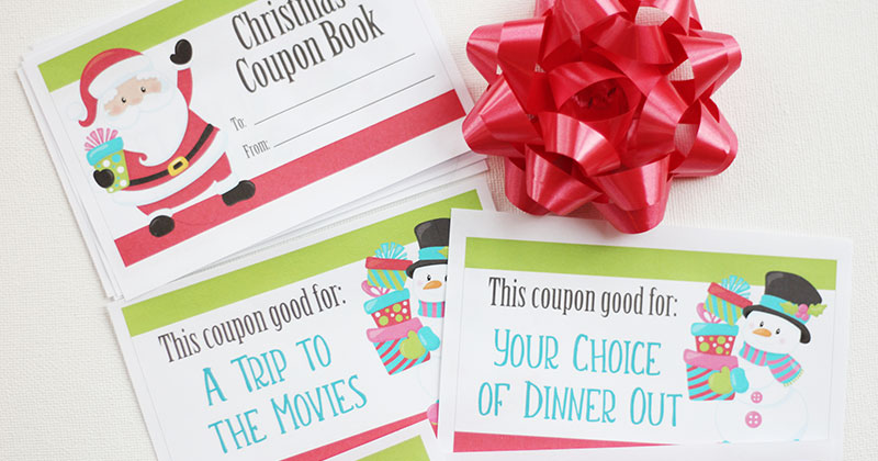 Printable Christmas Coupons for Fun Gift Experiences | Sunny Day Family