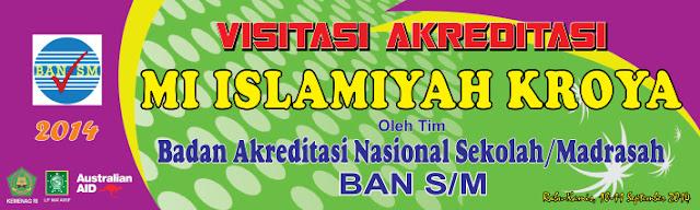 Desain Banner Visitasi Akreditasi Sekolah / Madrasah cdr