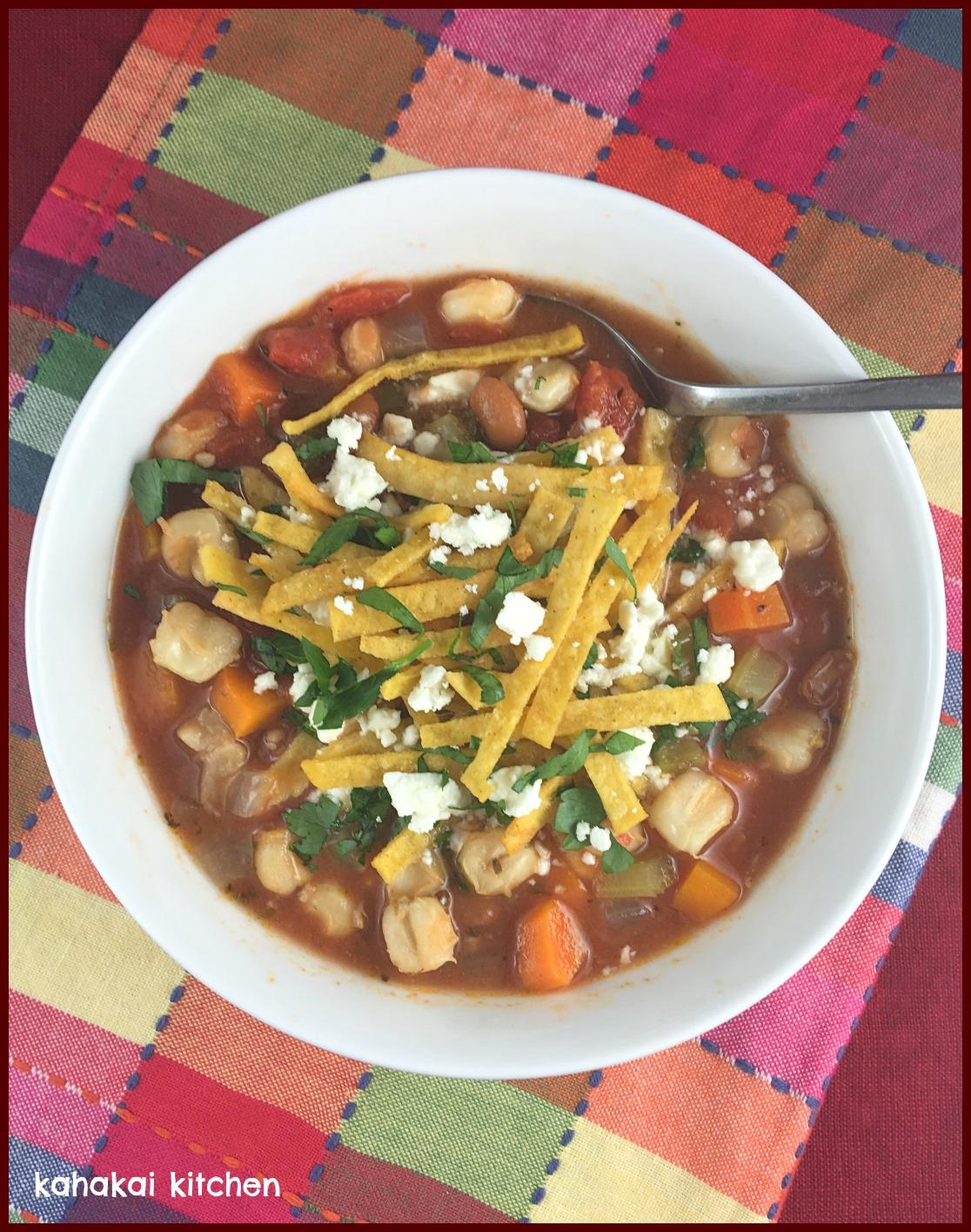 Ina Garten Soup Kahakai Kitchen Mexican Hominy & Bean Tortilla Soup A Variation