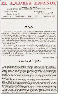 Revista El Ajedrez Español: parlamentos de Agustín Pujol y José Sanz