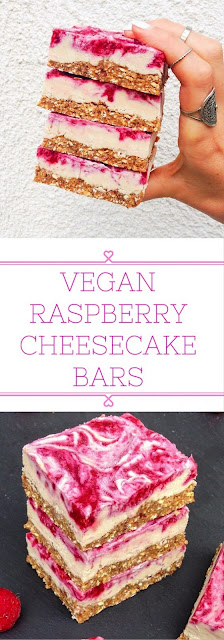 The ultimate Vegan Raspberry Cheesecake Bars