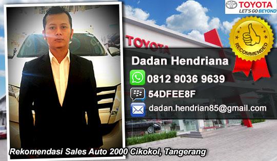Rekomendasi Sales Toyota Cikokol, Tangerang