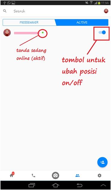 Cara terlihat offline Messenger di hp Android