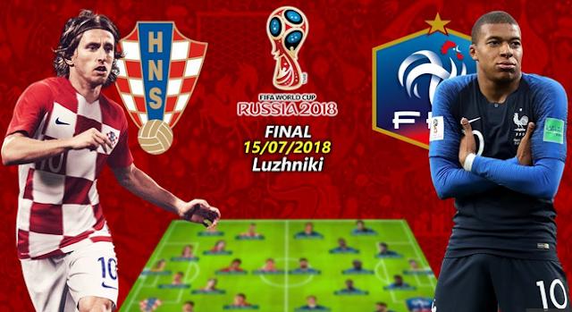 World Cup Final 2018: France vs Croatia , who will win, Lineup , Prediction