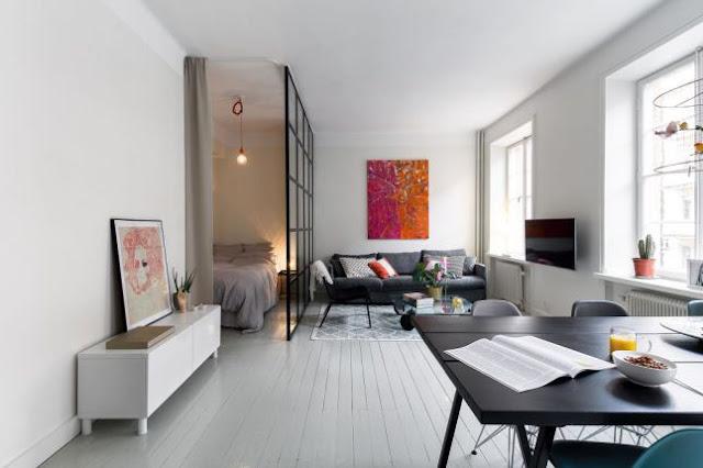 41 m² cu un colț special pentru dormitor