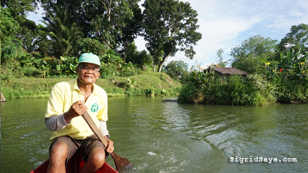 Bantug Lake Ranch - Bacolod attractions - boatman