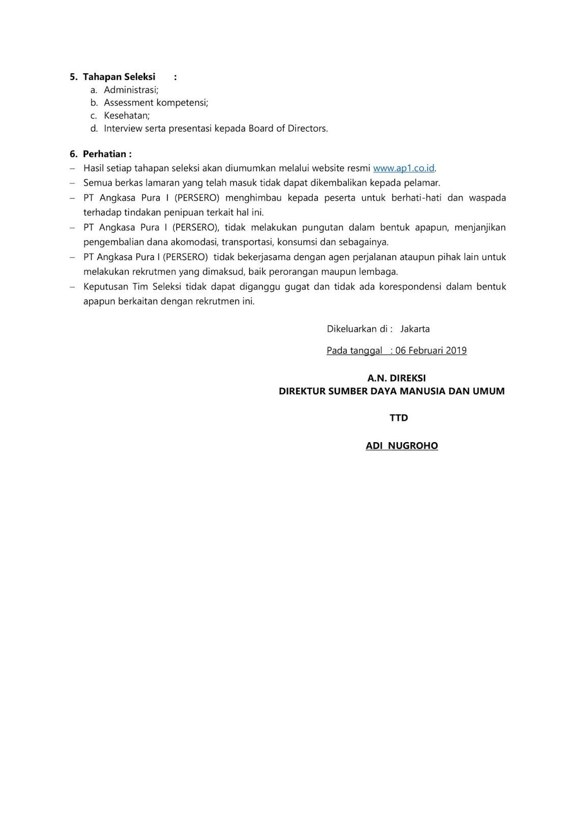 BUMN PT Angkasa Pura I (Persero)