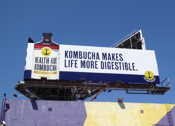 Kombucha makes life more digestible billboard