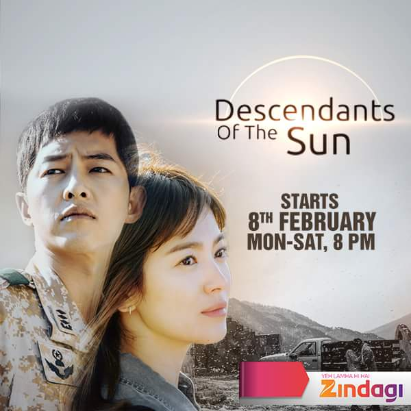 'Descendants of the Sun' Korean Tv Serial on Zindagi Tv wiki Plot.Cast.Promo.Timing.Title Song