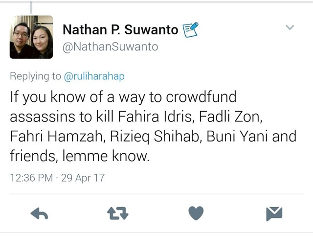 Nathan Suwanto : Sesumbar Ingin Menyewa Pembunuh Bayaran untuk Sikat Para Tokoh Ini