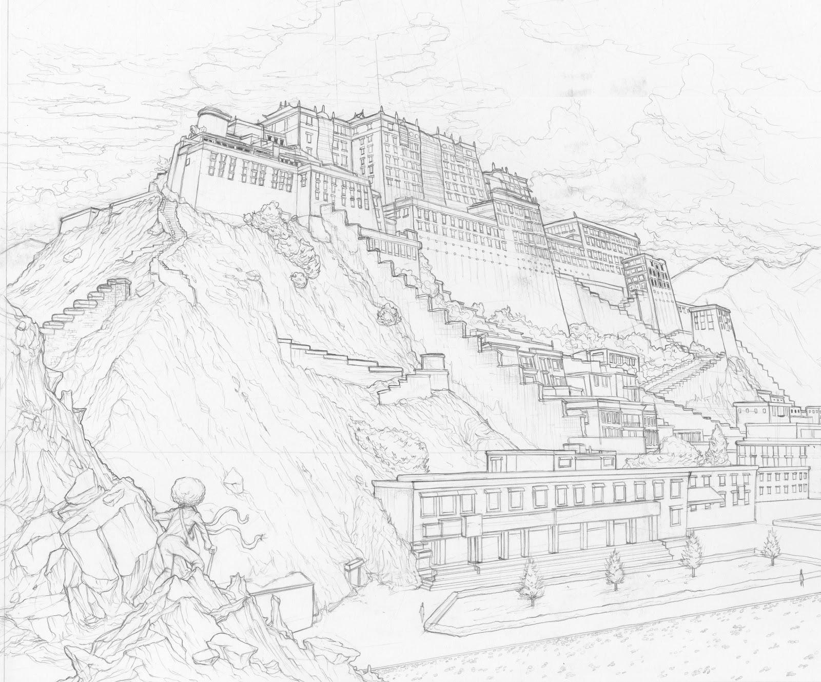 tim shum and stuff potala palace sketch Map of Tibet and Vietnam potala palace sketch