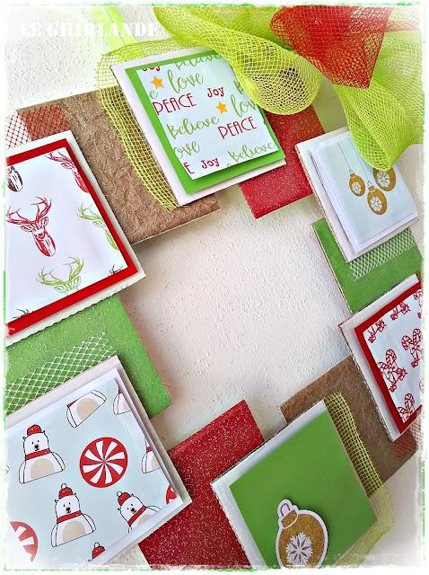 corona natalizia di carta
