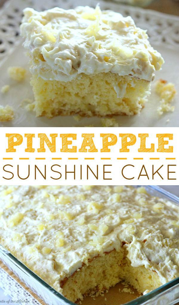 PINEAPPLE SUNSHINE CAKE #Pineapple #Sunshine #Cake #Creamy #Cheese #Dessert #Simplydessert #vegan #vegetablessoup
