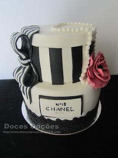 Bolo de aniversário Chanel nº18