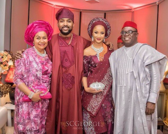 Image result for Banky W and his parents