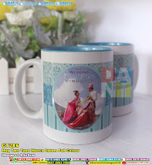 Mug Two Tone Warna Dalam Full Colour