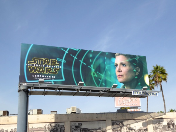 Leia Star Wars Force Awakens billboard