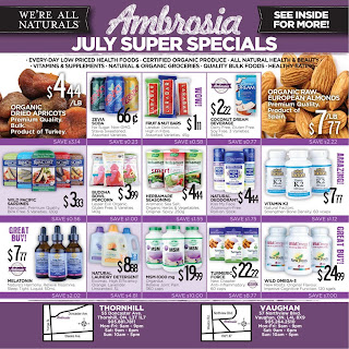 Ambrosia Natural Foods Flyer July 1 – 31, 2017