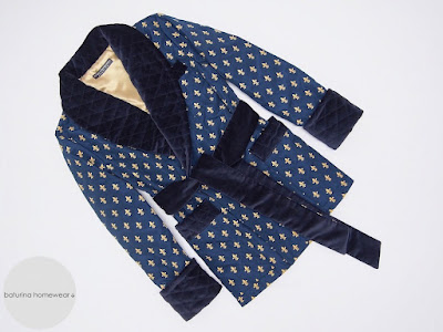 men's navy velvet smoking jacket robe warm quilted dressing gown dark blue cigar smoker robe english dandy style traditional gentleman