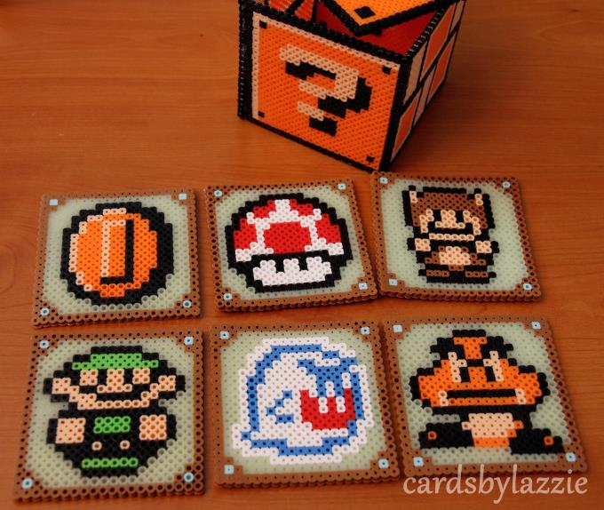 Cards by Lazzie: Mario and Zelda Coasters