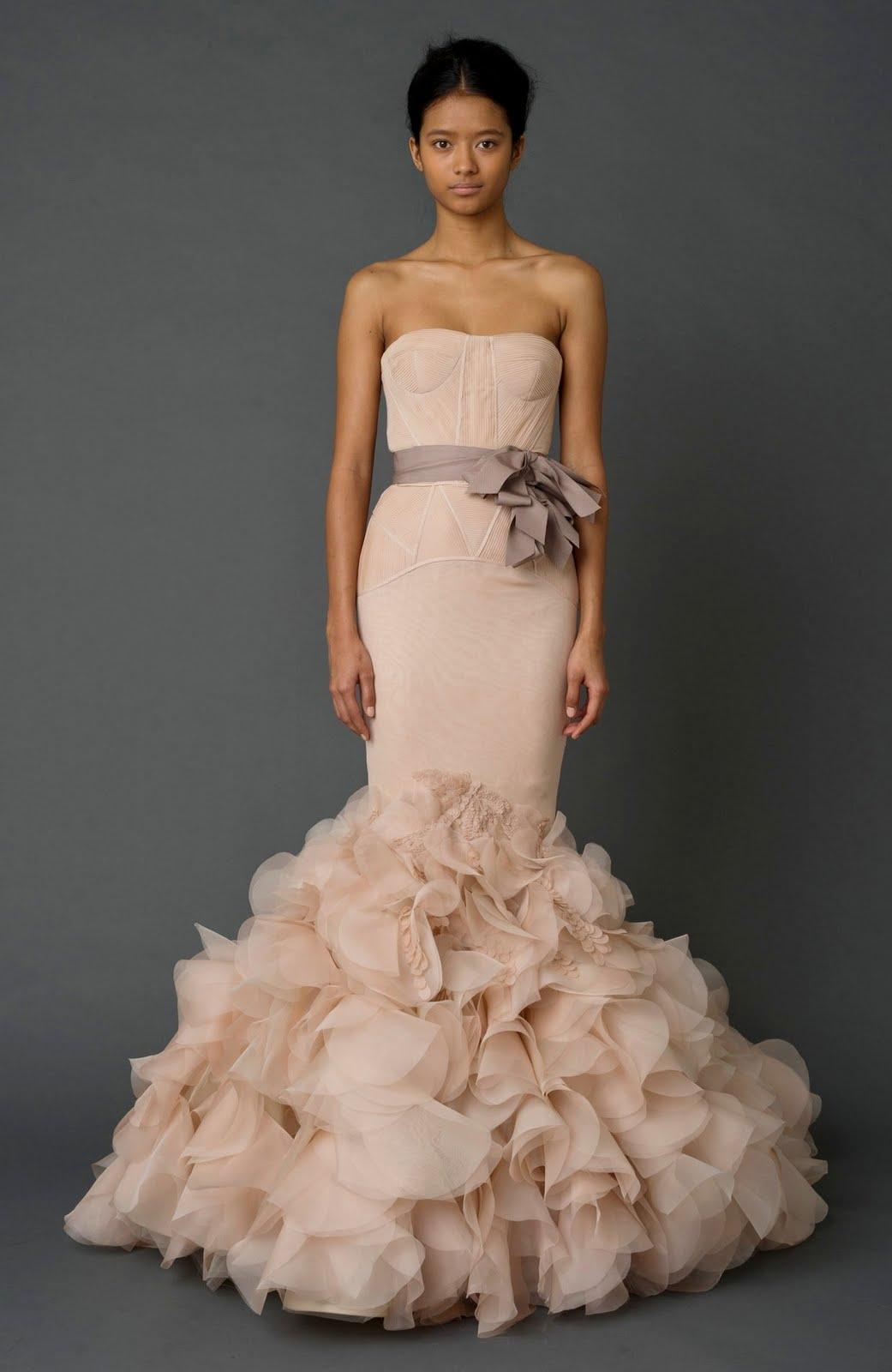 Pink Vera Wang Wedding Dresses