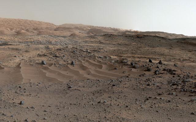 Outra foto de Marte com cores e cenários diferenciados da NASA