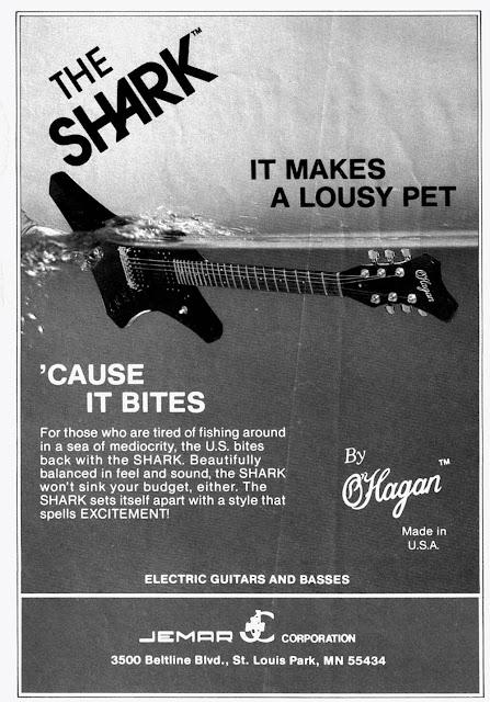 Anuncios de guitarras eléctricas años 70 y 80