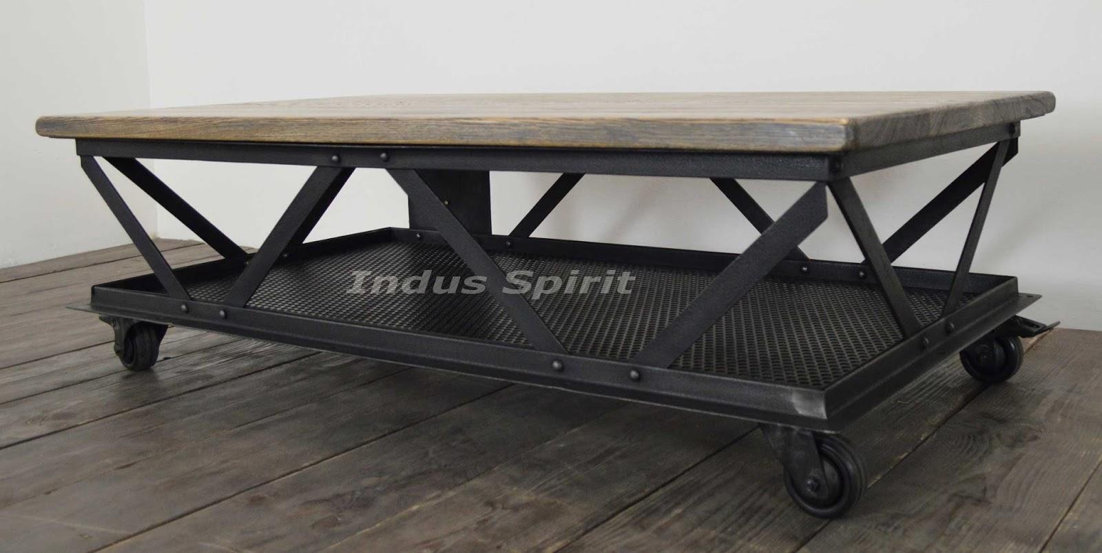 table basse industrielle eiffel. Black Bedroom Furniture Sets. Home Design Ideas