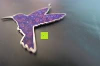 Rand: Kunstvolles Silber Halskette mit Kolibri Anhänger