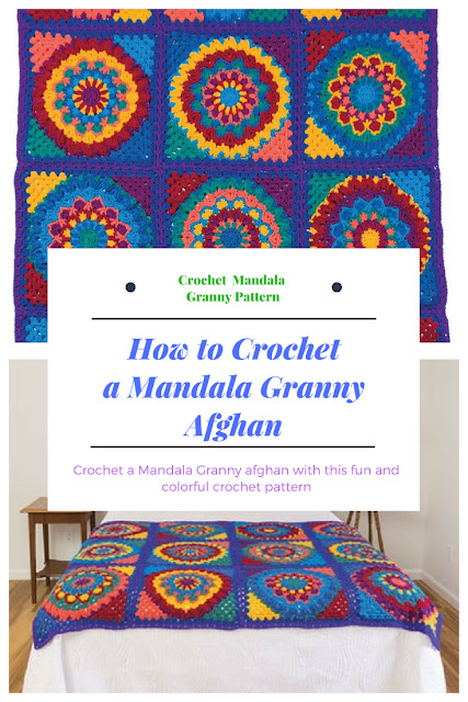 How to Crochet a Mandala Granny Afghan Pattern