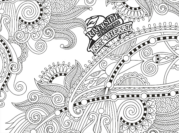 Unique Coloring Book Page For Adults  Flower Paisley Design