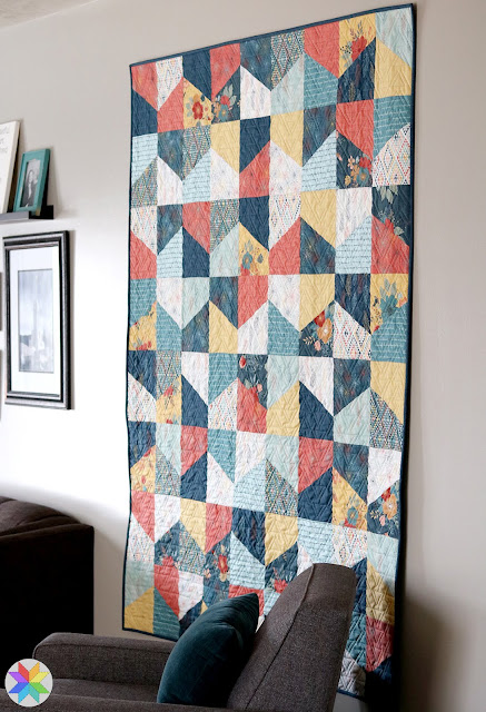 Lofty quilt pattern by Andy of A Bright Corner - a fat quarter pattern in four sizes.  Fabric is Dream Weaver from Riley Blake Designs