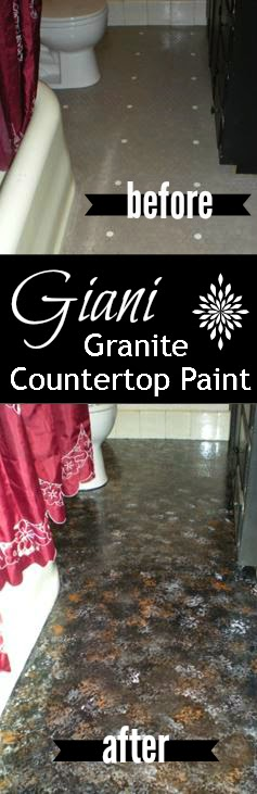 Bathroom Makeover Granite simply diy: tile floor makeover with giani granite countertop paint