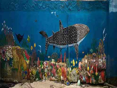 Wall painting of Whale Shark