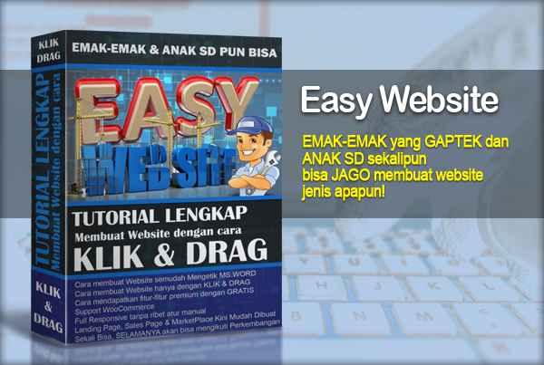 Easy Website - Tutorial Membuat Website dengan KLIK & DRAG