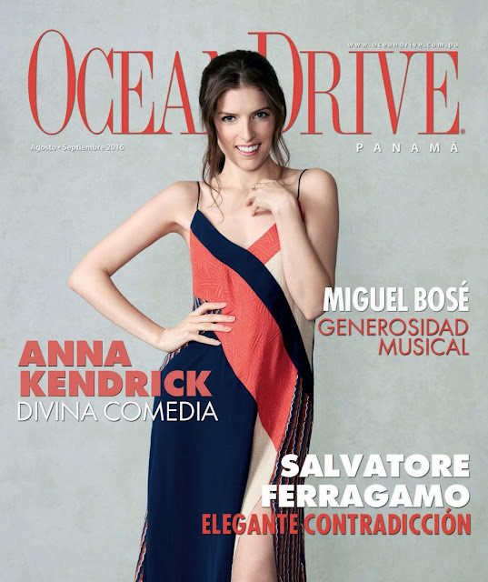 Actress, Singer, @ Anna Kendrick - Ocean Drive Magazine Panama August /September 2016
