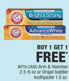 bogo free cvs Arm & Hammer Toothpaste