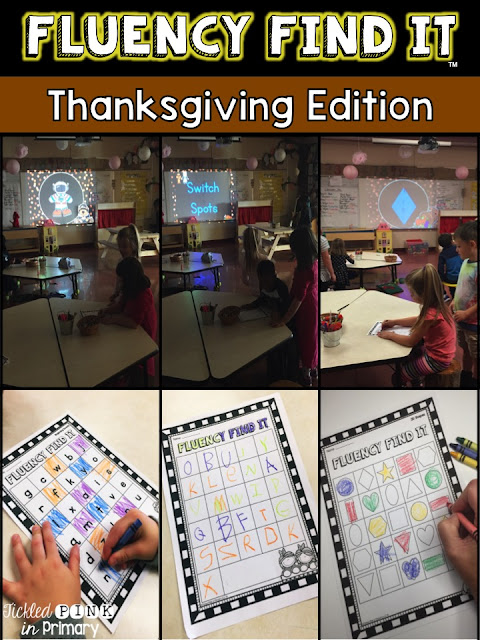 Thanksgiving Fluency Find It