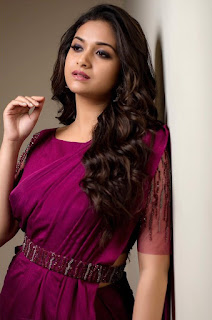 Keerthy Suresh in Pink Saree with Cute and Lovely Smile 2