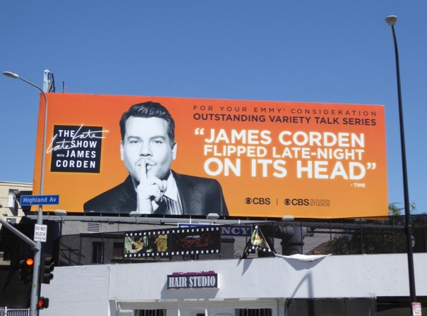 James Corden Late Late Show 2017 Emmy billboard