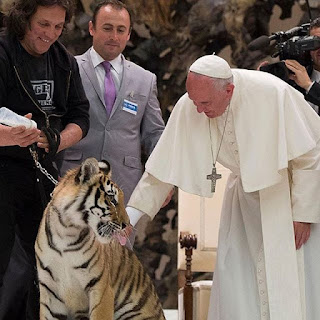 Pope and tiger