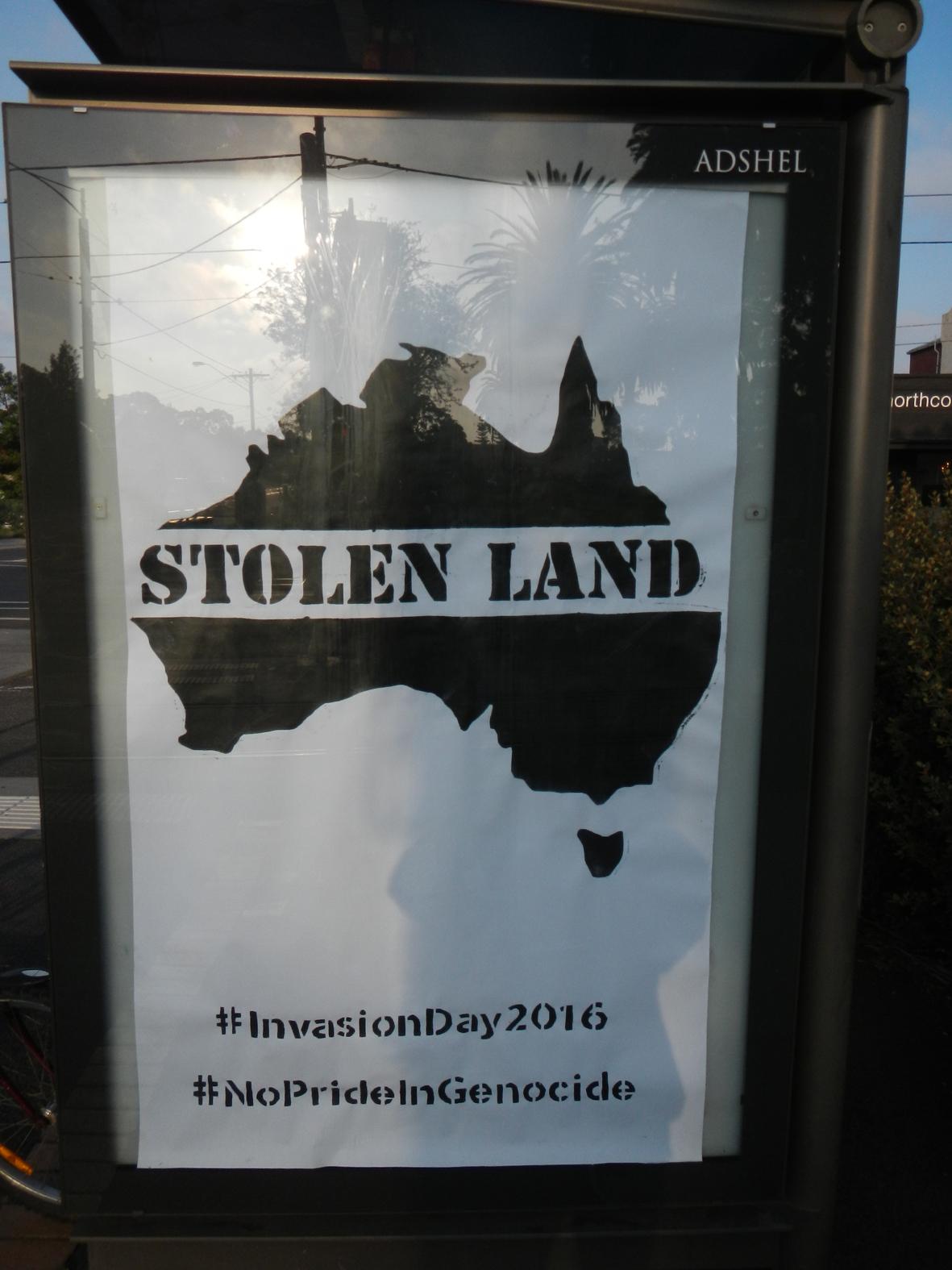 Public Ad Campaign Anti Australia Day Posters Graffiti Plastered Around Melbourne S Cbd Read More Http Www Theage Com Au Victoria Antiaustralia Day Posters Graffiti Plastered Around Melbournes Cbd 20160126 Gmdzw8 Html Ixzz46s2asw6d Follow Us