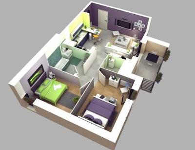 Model Denah Rumah Minimalis Modern