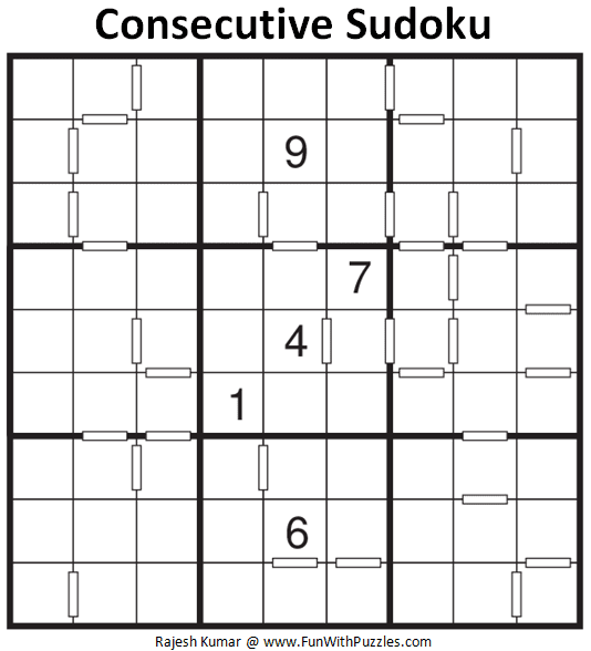 Consecutive Sudoku Puzzle (Fun With Sudoku #315)