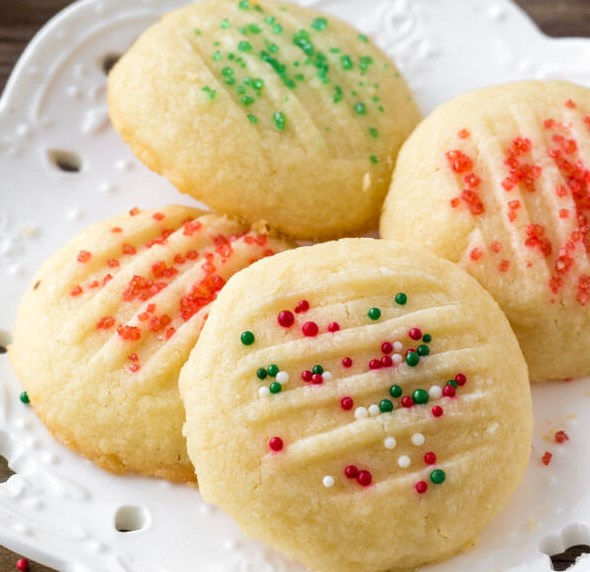 Whipped Shortbread Cookies #dessert #cake