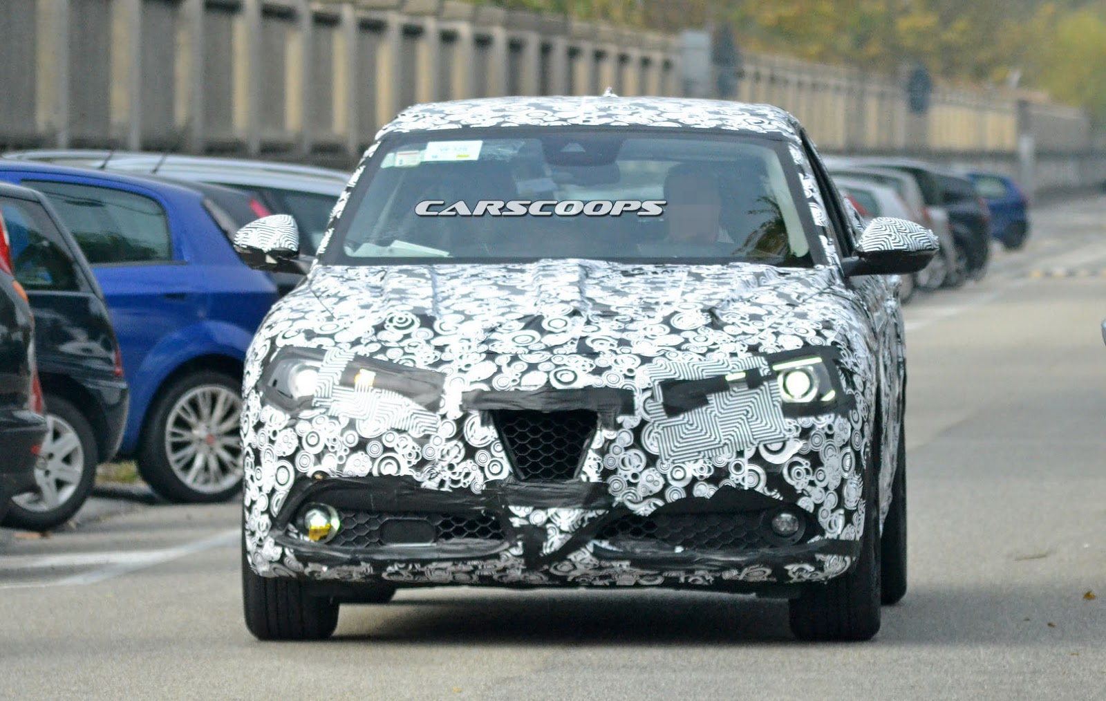 2017 alfa romeo stelvio suv on its final test phase before la debut carscoops. Black Bedroom Furniture Sets. Home Design Ideas