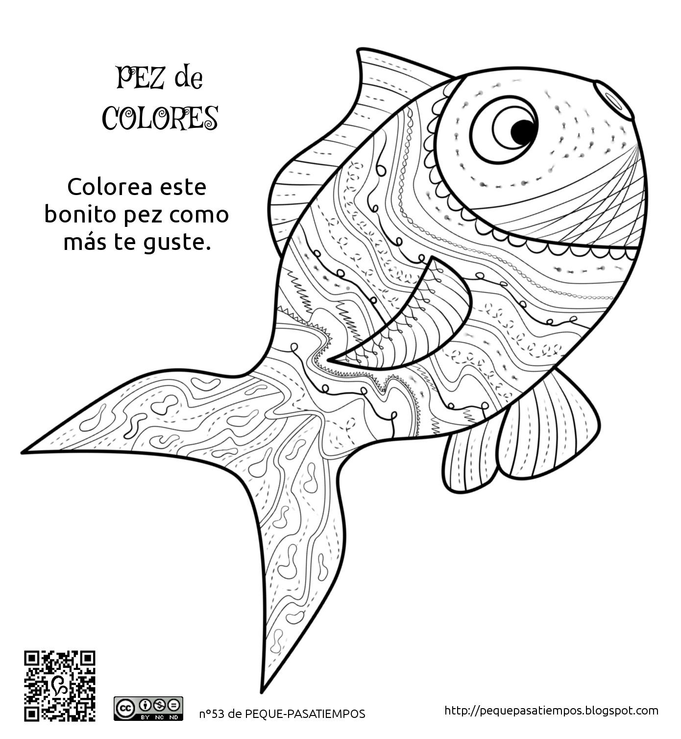 Peque-pasatiempos: Pez de colores - PEQUE-PASATIEMPOS nº53